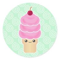Kawaii Ice Cream Cone Stickers