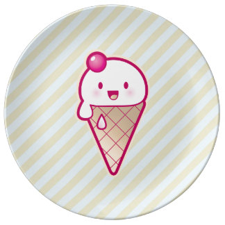 Kawaii Ice Cream Dinner Plate
