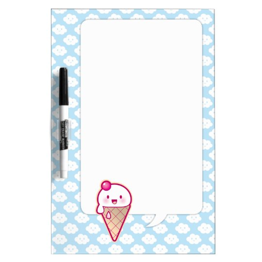 Kawaii Ice Cream Dry Erase Board