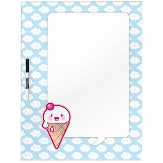 Kawaii Ice Cream Dry-Erase Whiteboards