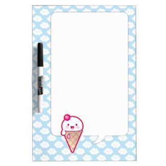 Kawaii Ice Cream Dry Erase Boards