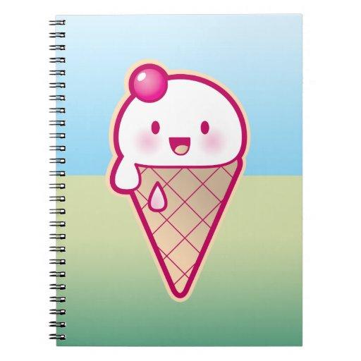 Kawaii ice cream notebooks