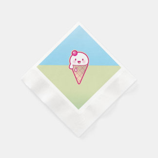 Kawaii Ice Cream Paper Napkin