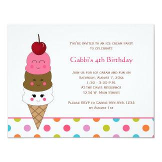 Kawaii Ice Cream Party Invitations