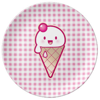 Kawaii Ice Cream Porcelain Plate