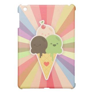 Kawaii Ice Cream Rainbow iPad case