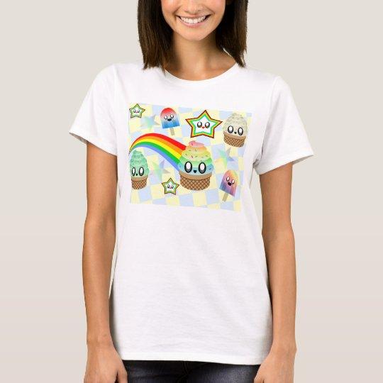 Kawaii Ice Cream Rainbow Party Happy Fun!!! T-Shirt