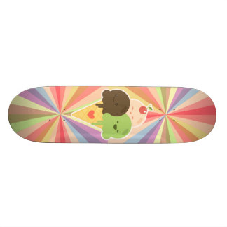 Kawaii Ice Cream Rainbow Skateboard