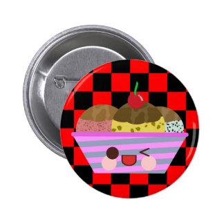 Kawaii Ice Cream Sundae Flavors Delicious Checks Pins