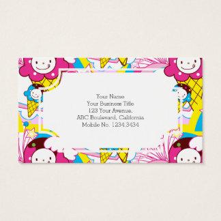 Kawaii Ice Cream Uber Cute Business Card