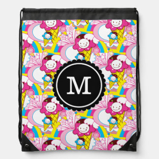 Kawaii Ice Cream Uber Cute Drawstring Bag