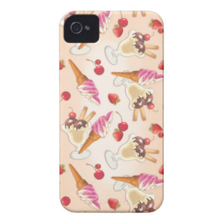 Kawaii icecream and strawberry iPhone 4 Case-Mate case
