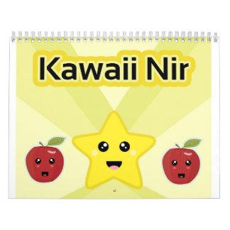 Kawaii impresionante calendario de pared