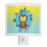 Kawaii Iron Man With Marvel Heroes on Globe Night Light