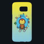 "Kawaii Iron Man With Marvel Heroes on Globe Samsung Galaxy S7 Case<br><div class=""desc"">Little Iron Man flies through the air using his gauntlets in front of a polka dot globe surrounded by miniature Marvel heroes and villains: Spider-Man,  Captain America,  Venom,  Captain Marvel,  Hawkeye,  Falcon,  Carnage,  Nick Fury,  Hulk,  and Thor.</div>"
