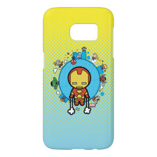 best website 3086c 2a79c Kawaii Iron Man With Marvel Heroes on Globe Samsung Galaxy S7 Case