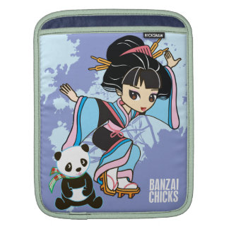 Kawaii Izumi the Geisha Girl Chibi iPad Sleeve
