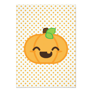 Kawaii Jack O Lantern Halloween Party Invite