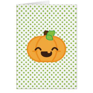 Kawaii Jack O Lantern Pumpkin Note Card