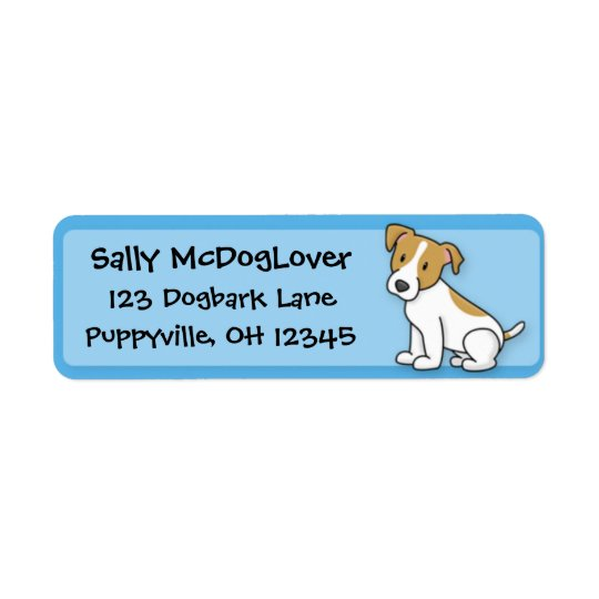 Kawaii Jack Russell Terrier Label