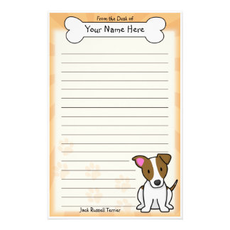 Kawaii Jack Russell Terrier Stationery
