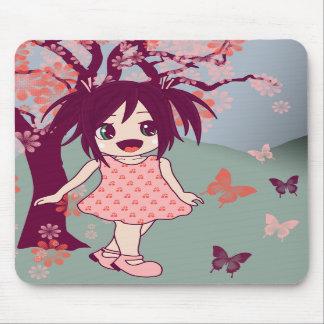 Kawaii Japanese Chibi Anime Manga Girl Mousepad