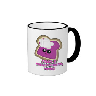 Kawaii Jelly and Cream Cheese Toast Ringer Mug