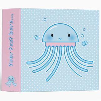 Kawaii jellyfish vinyl binders