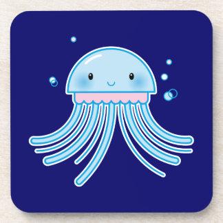 Kawaii jellyfish coasters