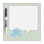 Kawaii jellyfish dry erase board
