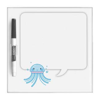 Kawaii jellyfish dry erase whiteboards