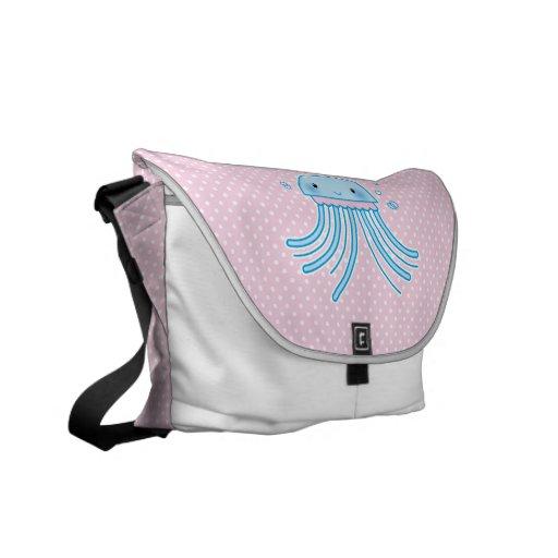 Kawaii jellyfish messenger bag