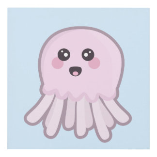 Kawaii Jellyfish Panel Wall Art