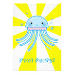 Kawaii jellyfish personalized invite