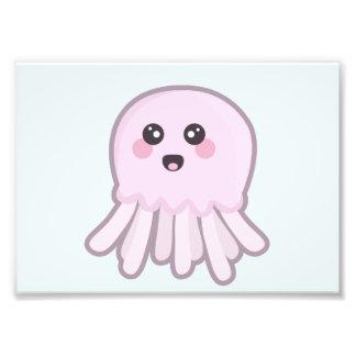 Kawaii Jellyfish Photo Print