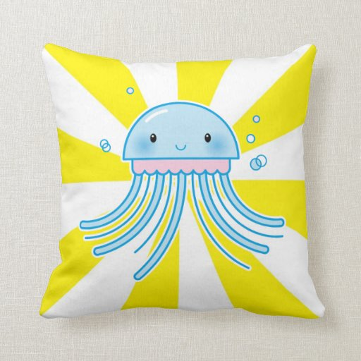 Kawaii jellyfish pillow