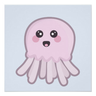 Kawaii Jellyfish Poster