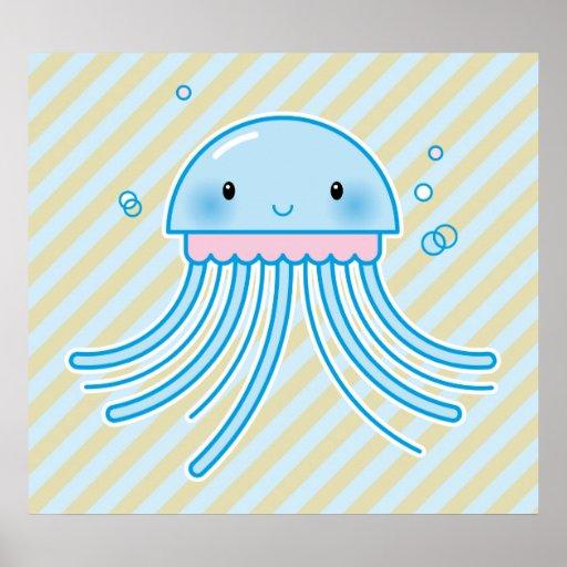 Kawaii jellyfish print