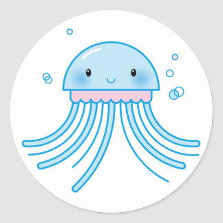 Kawaii jellyfish sticker