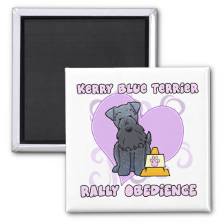 Kawaii Kerry Blue Terrier Rally Obedience 2 Inch Square Magnet