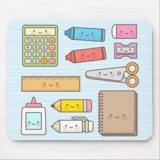 Kawaii Kids Back to School Supplies Mouse Pad