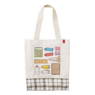 Kawaii Kids Back to School Supplies Zazzle HEART Tote Bag