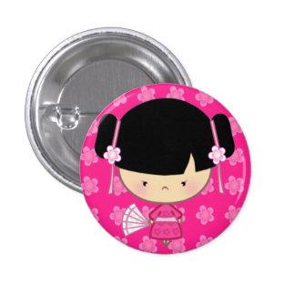 Kawaii Kimono Badge 1 Inch Round Button