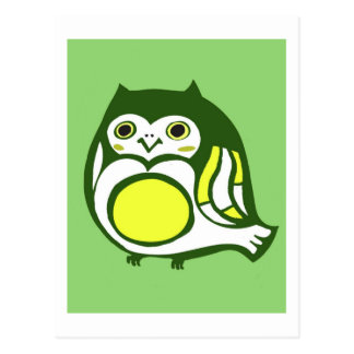 Kawaii Kitschy Owl Postcard