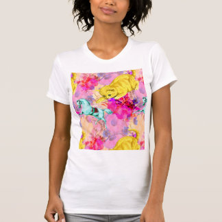 kawaii kitten pounce women's tee shirt