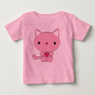 Kawaii kitten with heart infant t-shirt