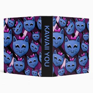Kawaii Kitty 3 Ring Binder