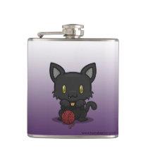 Kawaii Kitty (Black) Flask