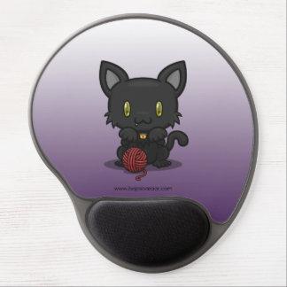 Kawaii Kitty (Black) Gel Mousepads