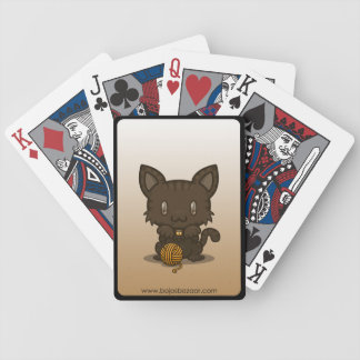 Kawaii Kitty (Brown Striped) Bicycle Playing Cards